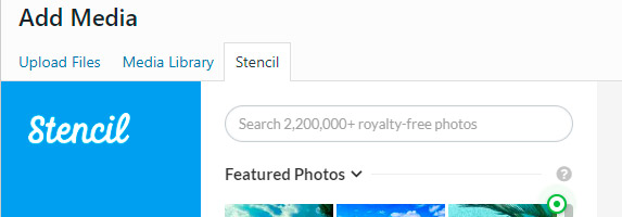 Stencil - photos to WordPress